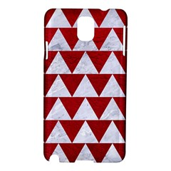 Triangle2 White Marble & Red Leather Samsung Galaxy Note 3 N9005 Hardshell Case by trendistuff