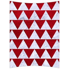 Triangle2 White Marble & Red Leather Back Support Cushion by trendistuff