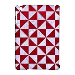 Triangle1 White Marble & Red Leather Apple Ipad Mini Hardshell Case (compatible With Smart Cover) by trendistuff