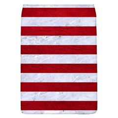Stripes2white Marble & Red Leather Flap Covers (l)  by trendistuff