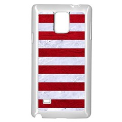 Stripes2white Marble & Red Leather Samsung Galaxy Note 4 Case (white) by trendistuff
