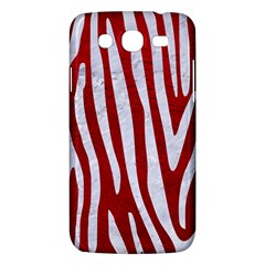 Skin4 White Marble & Red Leather (r) Samsung Galaxy Mega 5 8 I9152 Hardshell Case  by trendistuff