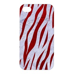 Skin3 White Marble & Red Leather (r) Apple Iphone 4/4s Premium Hardshell Case by trendistuff
