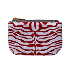 Skin2 White Marble & Red Leather (r) Mini Coin Purses by trendistuff