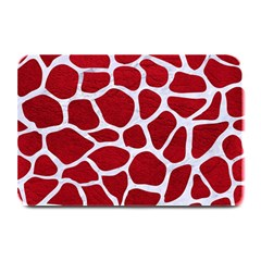Skin1 White Marble & Red Leather (r) Plate Mats by trendistuff