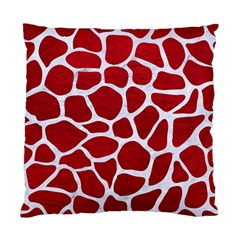 Skin1 White Marble & Red Leather (r) Standard Cushion Case (one Side) by trendistuff