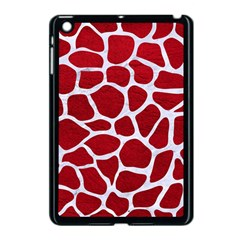Skin1 White Marble & Red Leather (r) Apple Ipad Mini Case (black) by trendistuff