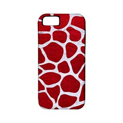 Skin1 White Marble & Red Leather (r) Apple Iphone 5 Classic Hardshell Case (pc+silicone) by trendistuff