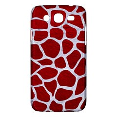 Skin1 White Marble & Red Leather (r) Samsung Galaxy Mega 5 8 I9152 Hardshell Case  by trendistuff