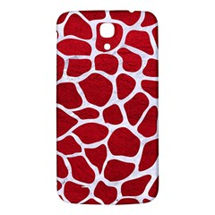 Skin1 White Marble & Red Leather (r) Samsung Galaxy Mega I9200 Hardshell Back Case by trendistuff