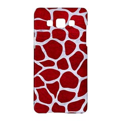 Skin1 White Marble & Red Leather (r) Samsung Galaxy A5 Hardshell Case  by trendistuff