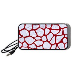 Skin1 White Marble & Red Leather Portable Speaker by trendistuff