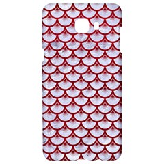 Scales3 White Marble & Red Leather (r) Samsung C9 Pro Hardshell Case  by trendistuff