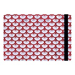 Scales3 White Marble & Red Leather (r) Apple Ipad Pro 10 5   Flip Case by trendistuff