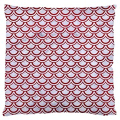 Scales2 White Marble & Red Leather (r) Standard Flano Cushion Case (two Sides) by trendistuff