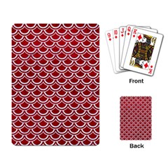 Scales2 White Marble & Red Leather Playing Card by trendistuff