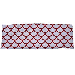 Scales1 White Marble & Red Leather (r) Body Pillow Case (dakimakura) by trendistuff