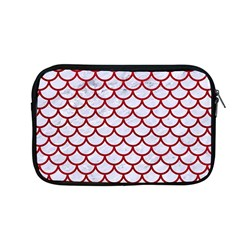 Scales1 White Marble & Red Leather (r) Apple Macbook Pro 13  Zipper Case by trendistuff