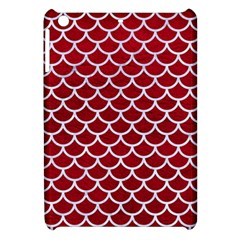 Scales1 White Marble & Red Leather Apple Ipad Mini Hardshell Case by trendistuff