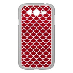 Scales1 White Marble & Red Leather Samsung Galaxy Grand Duos I9082 Case (white) by trendistuff
