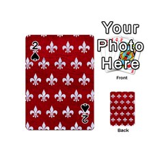 Royal1 White Marble & Red Leather (r) Playing Cards 54 (mini)  by trendistuff