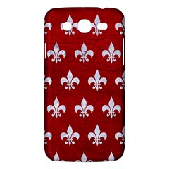 Royal1 White Marble & Red Leather (r) Samsung Galaxy Mega 5 8 I9152 Hardshell Case  by trendistuff