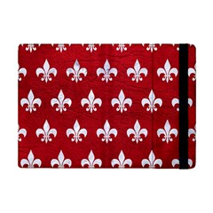 Royal1 White Marble & Red Leather (r) Ipad Mini 2 Flip Cases by trendistuff