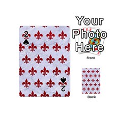 Royal1 White Marble & Red Leather Playing Cards 54 (mini)  by trendistuff