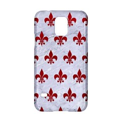 Royal1 White Marble & Red Leather Samsung Galaxy S5 Hardshell Case  by trendistuff