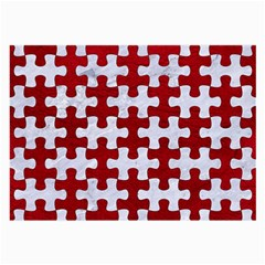 Puzzle1 White Marble & Red Leather Large Glasses Cloth by trendistuff
