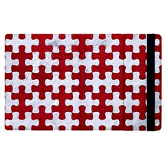 Puzzle1 White Marble & Red Leather Apple Ipad Pro 9 7   Flip Case by trendistuff