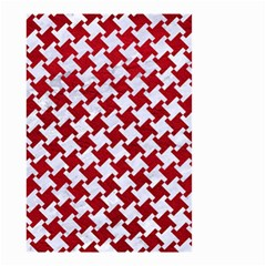 Houndstooth2 White Marble & Red Leather Small Garden Flag (two Sides) by trendistuff