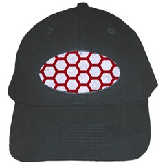 Hexagon2 White Marble & Red Leather (r) Black Cap by trendistuff
