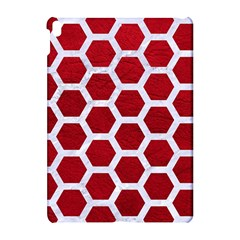 Hexagon2 White Marble & Red Leather Apple Ipad Pro 10 5   Hardshell Case