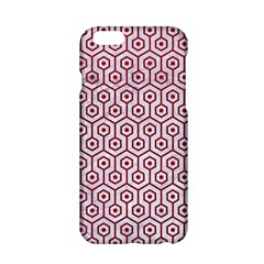 Hexagon1 White Marble & Red Leather (r) Apple Iphone 6/6s Hardshell Case by trendistuff