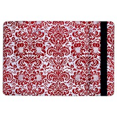 Damask2 White Marble & Red Leather (r) Ipad Air 2 Flip by trendistuff