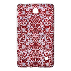 Damask2 White Marble & Red Leather (r) Samsung Galaxy Tab 4 (7 ) Hardshell Case  by trendistuff