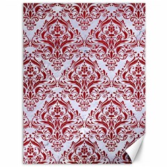 Damask1 White Marble & Red Leather (r) Canvas 36  X 48   by trendistuff