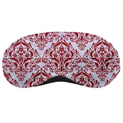 Damask1 White Marble & Red Leather (r) Sleeping Masks by trendistuff