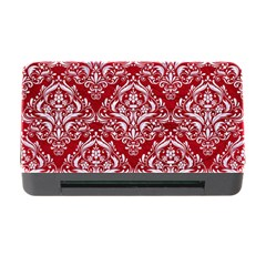 Damask1 White Marble & Red Leather Memory Card Reader With Cf by trendistuff