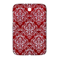 Damask1 White Marble & Red Leather Samsung Galaxy Note 8 0 N5100 Hardshell Case  by trendistuff