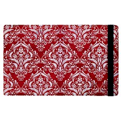 Damask1 White Marble & Red Leather Apple Ipad Pro 9 7   Flip Case by trendistuff
