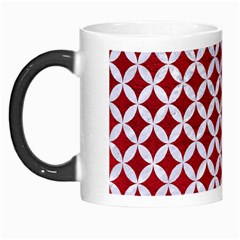 Circles3 White Marble & Red Leather Morph Mugs by trendistuff