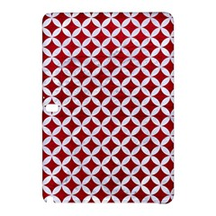 Circles3 White Marble & Red Leather Samsung Galaxy Tab Pro 12 2 Hardshell Case by trendistuff