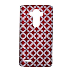 Circles3 White Marble & Red Leather Lg G4 Hardshell Case by trendistuff