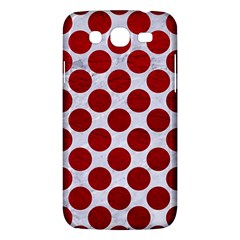 Circles2 White Marble & Red Leather (r) Samsung Galaxy Mega 5 8 I9152 Hardshell Case  by trendistuff