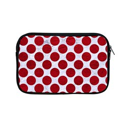 Circles2 White Marble & Red Leather (r) Apple Macbook Pro 13  Zipper Case by trendistuff