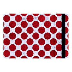Circles2 White Marble & Red Leather (r) Apple Ipad Pro 10 5   Flip Case by trendistuff