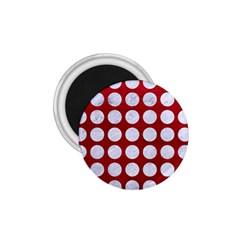 Circles1 White Marble & Red Leather 1 75  Magnets by trendistuff