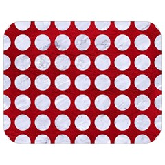 Circles1 White Marble & Red Leather Full Print Lunch Bag by trendistuff